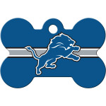 Detroit Lions Large Bone ID Spot Tag
