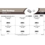 "Zinc-plated Steel Bushings Assortment (3/8"" Inner diameter)"