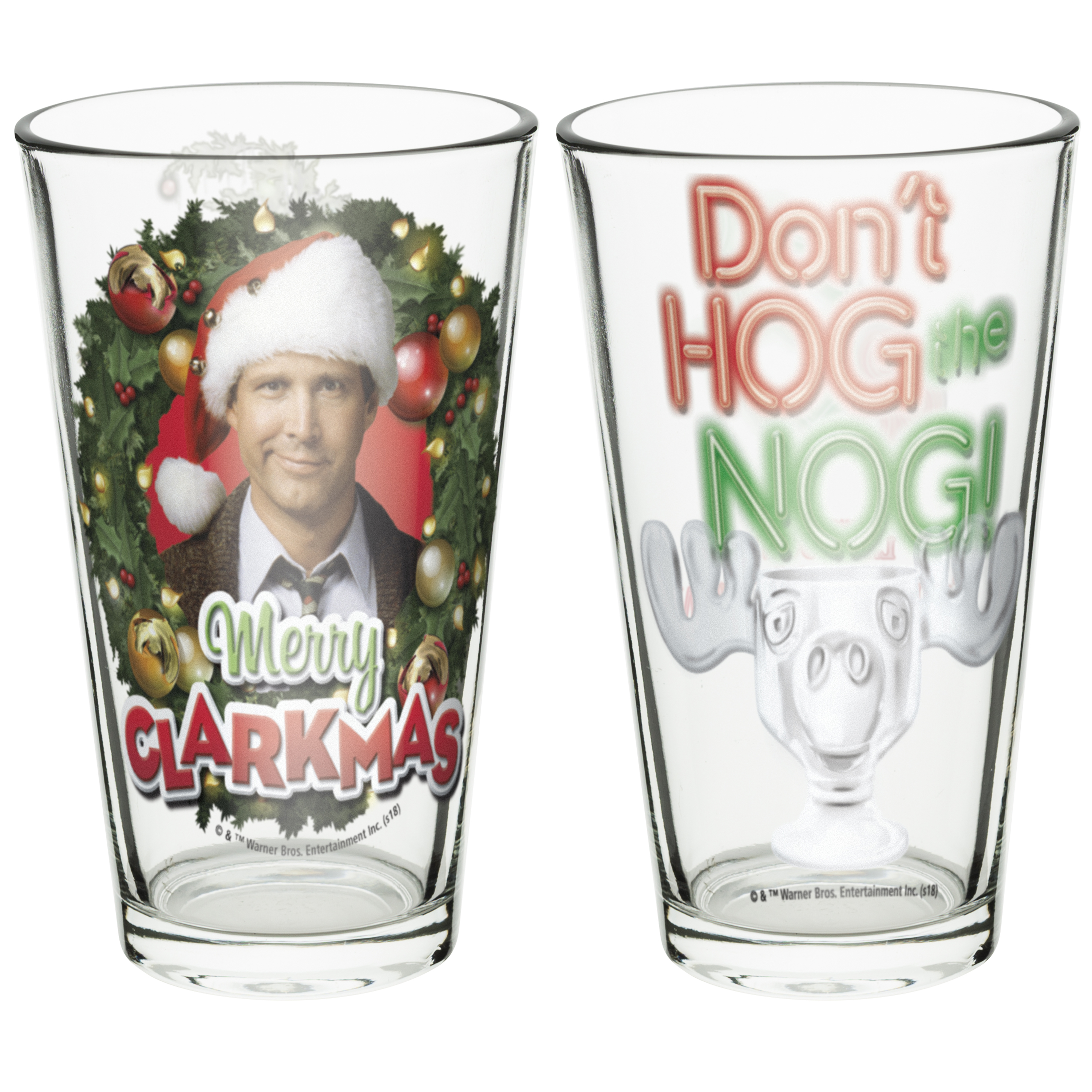 National Lampoon's Christmas Vacation 16 ounce Pint Glasses, Clark Griswold, 2-piece set slideshow image 2