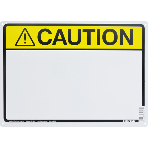 Aluminum Blank Caution Sign 10