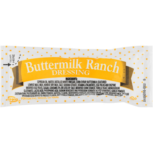 PPI Single Serve Buttermilk Ranch Dressing, 12 gr. Packets (Pack of 500)