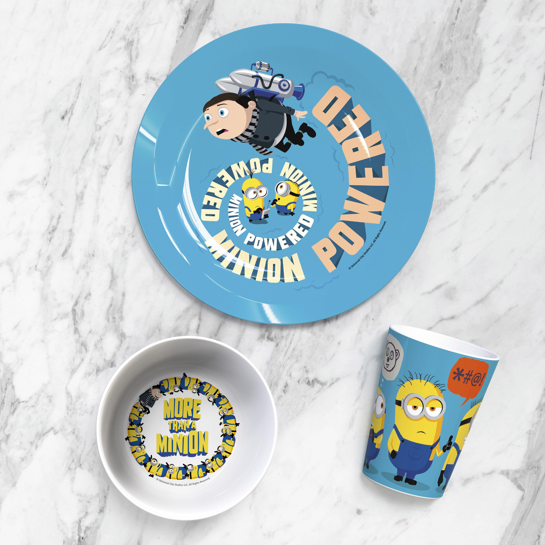Minions 2 Movie Kid's Dinnerware Set, Minions and Felonius Gru, 3-piece set slideshow image 12