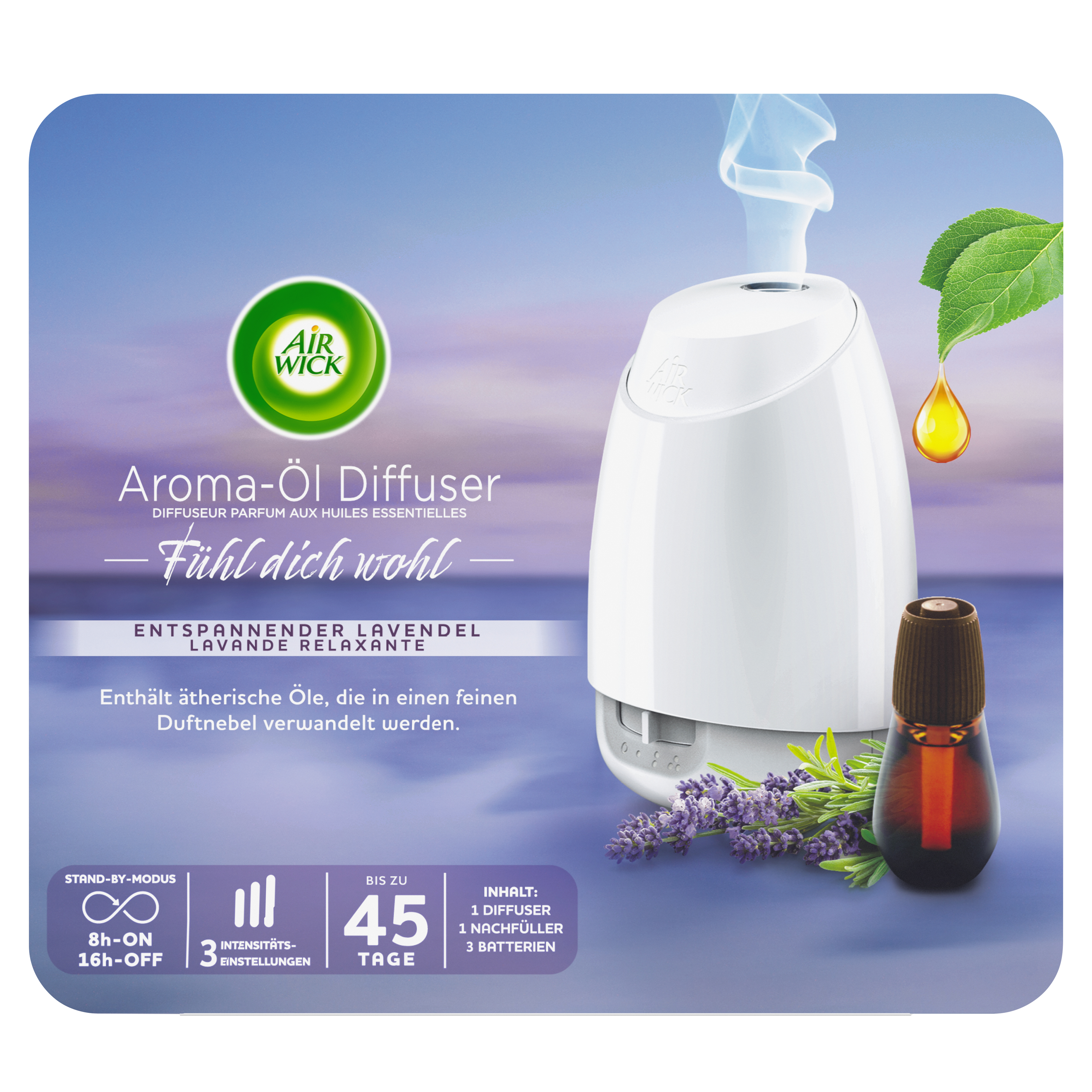 Air Wick Aroma-Öl Diffuser Entspannender Lavendel