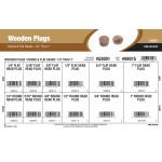 "Round & Flat Head Wooden Plugs Assortment (1/4"" thru 1"")"