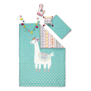 Dreamit - Kids Bedding Set Festive Llama