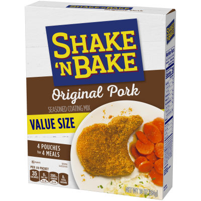 Kraft Shake 'n Bake Original Pork Seasoned Coating Mix 10 oz Box