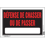 "French No Hunting or Trespassing Sign (8"" x 12"")"