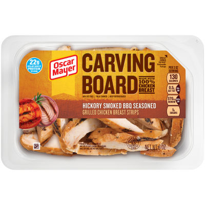 Oscar Mayer Hickory Smoked BBQ Grilled Chicken Strips 6 oz Tray