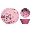 Disney Kids Plate and Bowl Set, Minnie Mouse, 4-piece set slideshow image 1