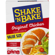 Kraft Shake 'n Bake Original Recipe Chicken Seasoned Coating Mix, 9 oz Box