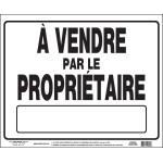 "French For Sale by Owner Sign with Frame (19"" x 24"")"