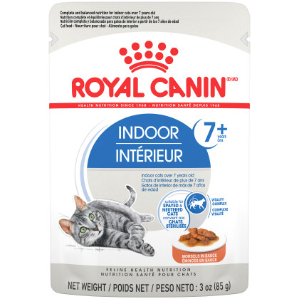 Royal Canin Feline Health Nutrition Indoor 7+ Morsels in Sauce Pouch Cat Food