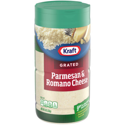 Kraft 100% Grated Parmesan & Romano Cheese Shaker, 8 oz Bottle