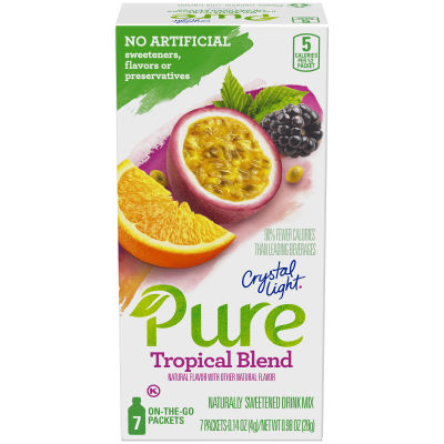 Crystal Light Pure Tropical Blend Drink Mix, 7 - 0.14 oz Packets