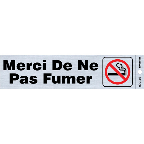 French Adhesive No Smoking Sign with Symbol (2