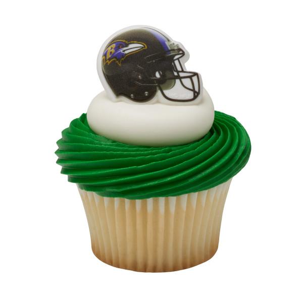 NFL Baltimore Ravens Cupcake Rings