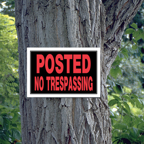 Posted No Trespassing Sign (8