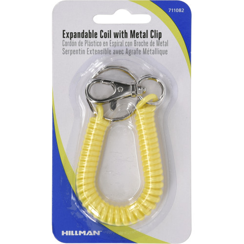 Expandable Coil Snap Hook 5 Pack