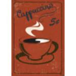 """Aluminum Vintage Cappuccino Sign 10"""" x 14"""""""