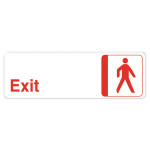 Adhesive Hard Plastic Exit Sign