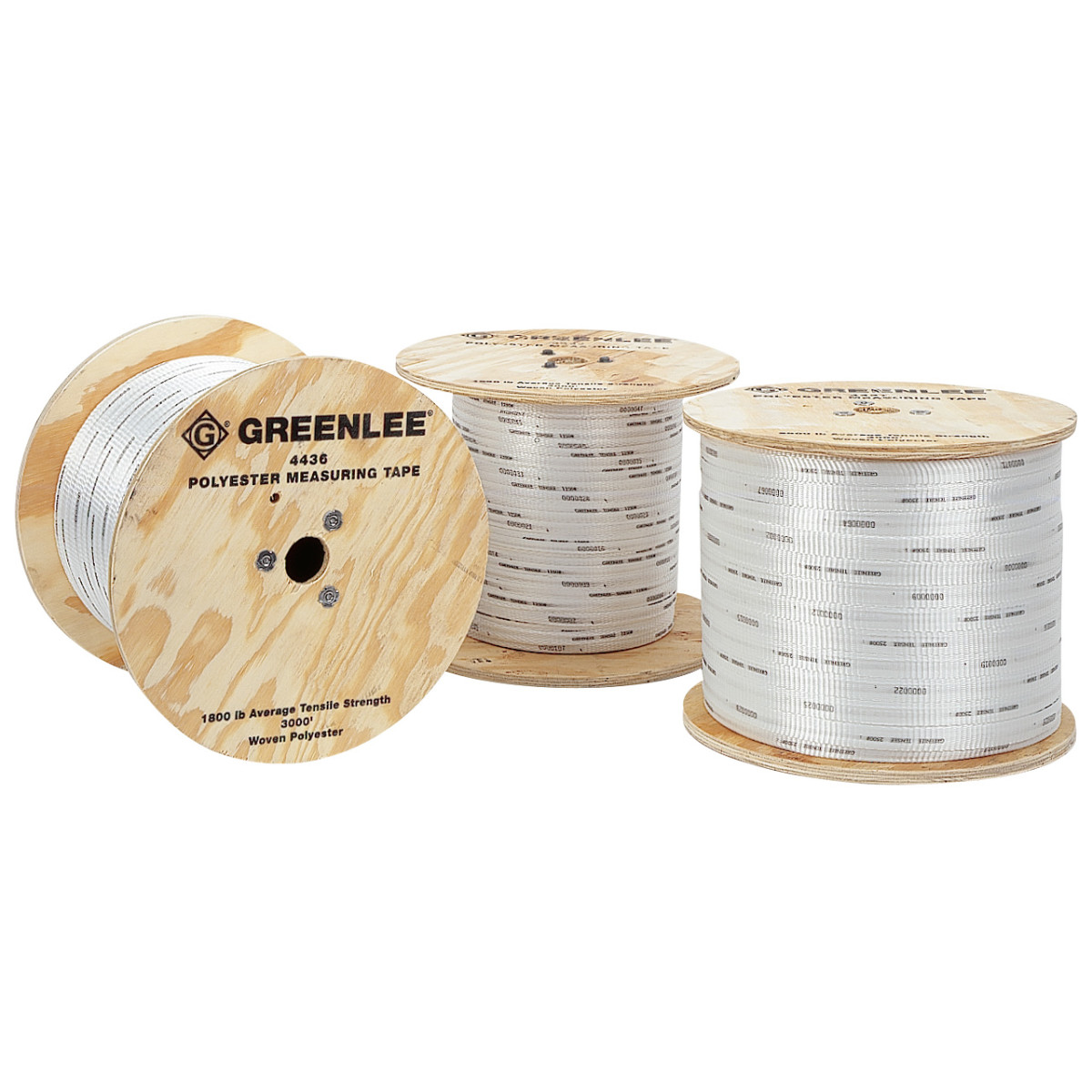 "Greenlee 4437 Tape Measuring-2500# Polyester, 3/4"", 3000'"