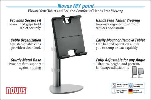 Novus MY Point Tablet Holder InfoGraphic
