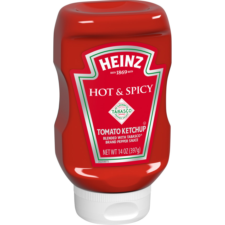 Heinz Hot and Spicy Tomato Ketchup, 14 oz Bottle image