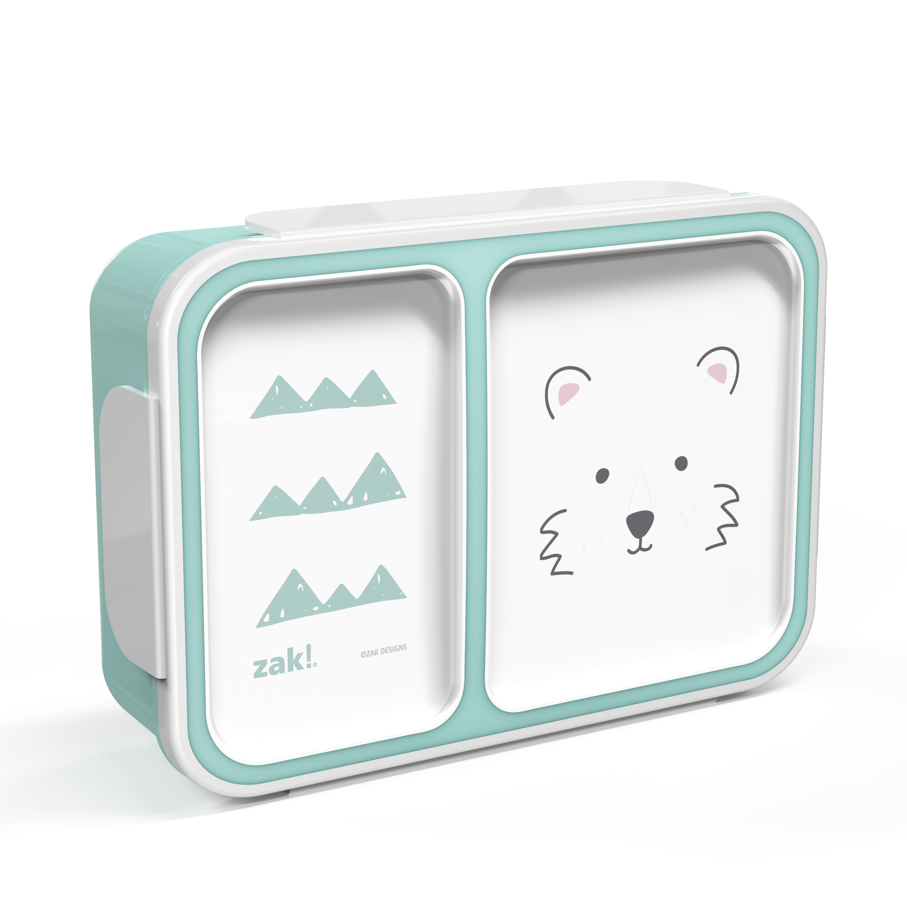Soft Lines Dual-compartment Reusable Bento Box, Teddy Bears slideshow image 3