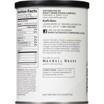 MAX Indulge by Maxwell House Mocha Salted Caramel Instant Coffee 12 oz Canister