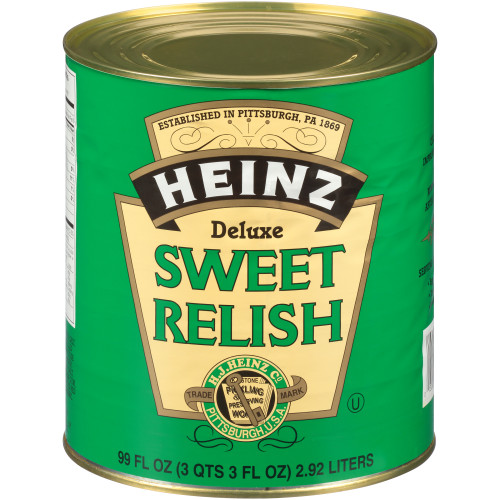 HEINZ Deluxe Sweet Relish #10 Can, 99 fl. oz. (Pack of 6)
