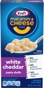 Kraft White Cheddar Macaroni & Cheese Dinner 7.3 oz Box image