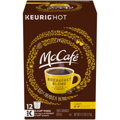 McCafé Breakfast Blend Coffee K-Cup Pods, 12 count