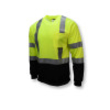 Radians ST21B Type R Class 3 Long Sleeve Black Bottom T-Shirt