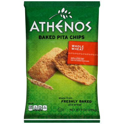 Athenos Whole Wheat Pita Chips 9 oz Bag