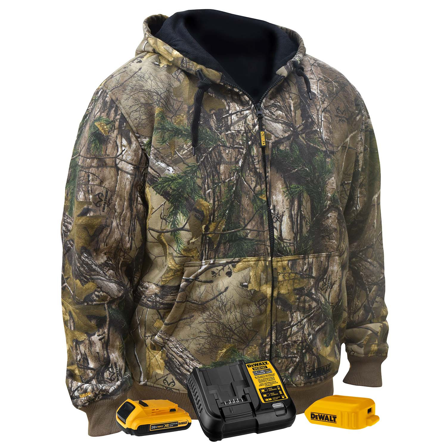 DEWALT® Unisex Heated RealTree® XTRA Camoflage Hoodie Sweatshirt Kitted