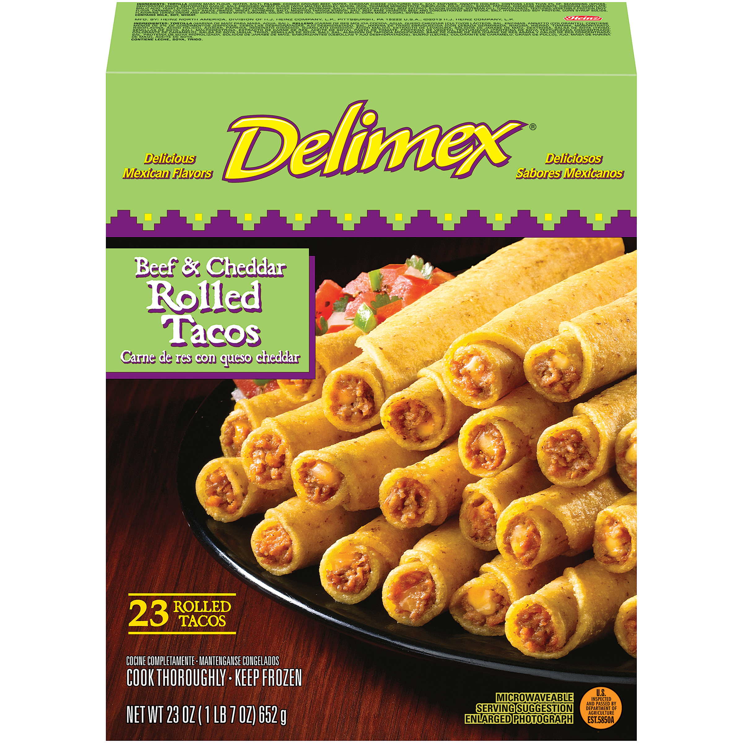 BEEF & CHEDDAR ROLLED TACOS 23 pc