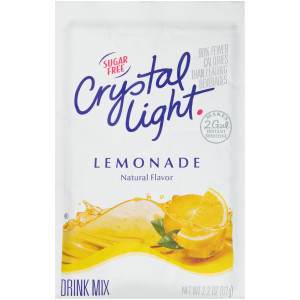 CRYSTAL LIGHT Sugar Free Lemonade Powdered Beverage Mix, 2.2 oz. Pouch (Pack of 12) image