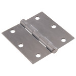 Hardware Essentials Square Corner Satin Chrome Door Hinges