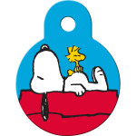 Snoopy on House Small Circle Quick-Tag