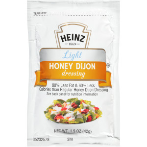 HEINZ Single Serve Light Honey Dijon Dressing, 1.5 oz. Packets (Pack of 60) image