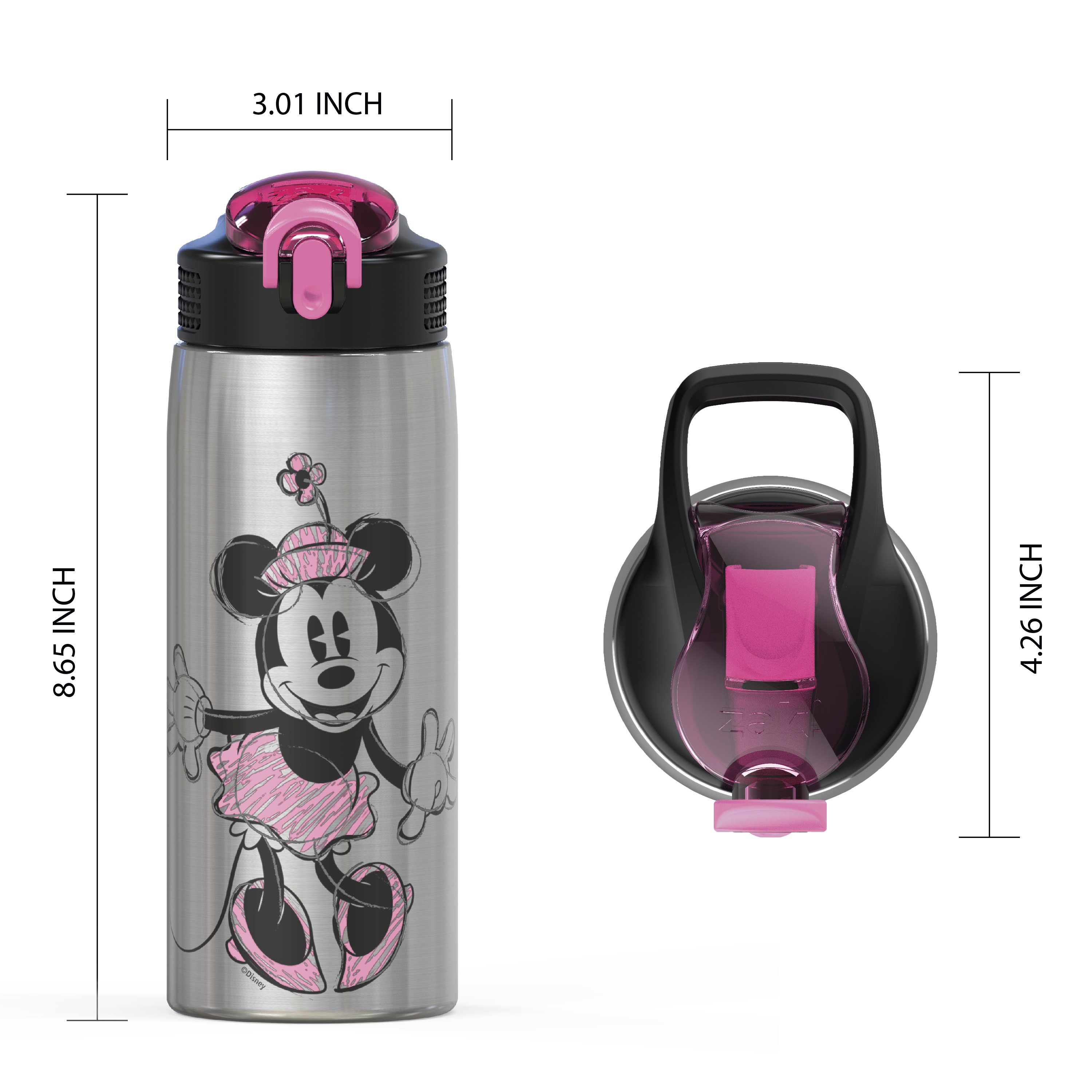 Disney 27 ounce Water Bottle, Minnie Mouse slideshow image 3