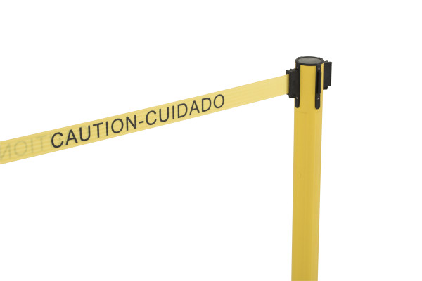Sentry Stanchion - Yellow with 'Caution' belt 2