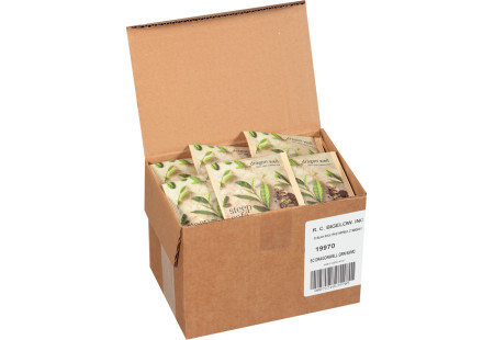 steep cafe by Bigelow full leaf dragonwell green tea pyramid bag in overwrap