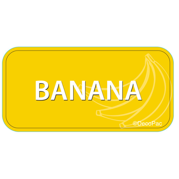 Banana Label PhotoCake® Edible Image®