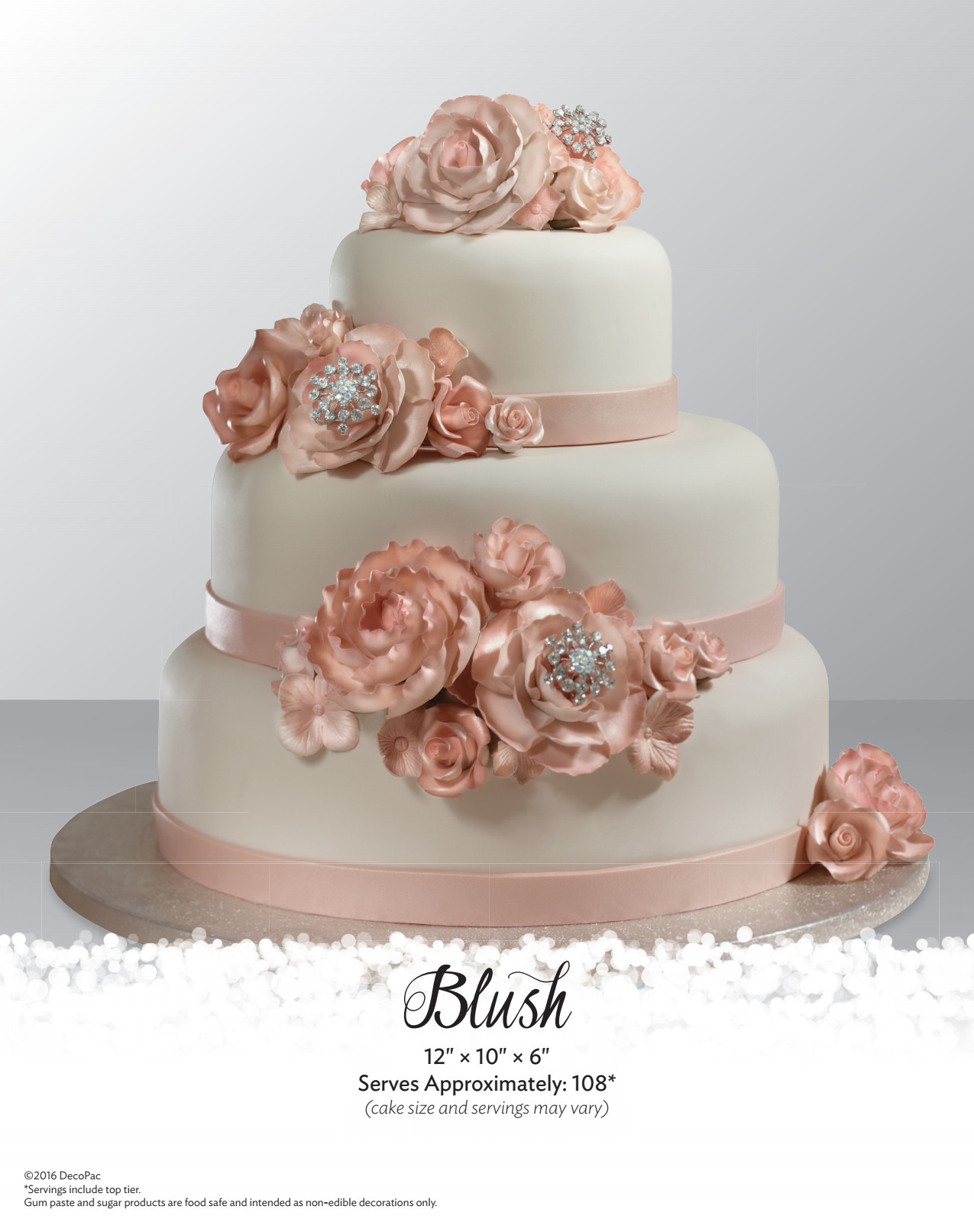 decopac wedding cakes blush stacked wedding cake the magic of cakes 174 page 13371