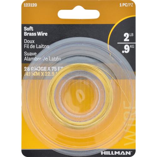 Hillman Brass Hobby Wire 28 Gauge 75'