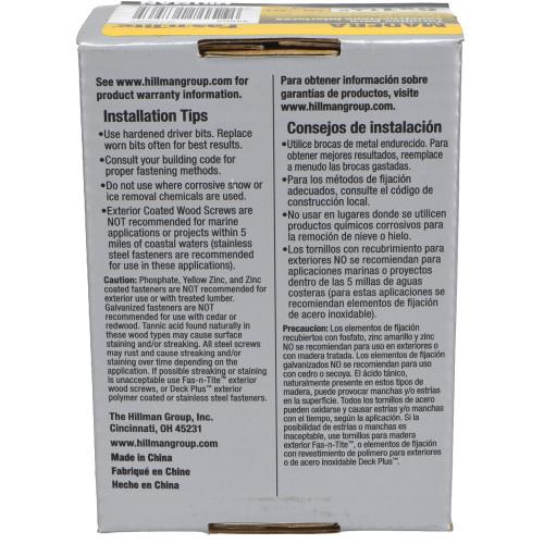 Fas-N-Tite Interior Yellow Zinc Construction Wood Screw, 1lb Box (#6 x 1-1/4