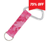 Carabiner Strap (Pink Camo)