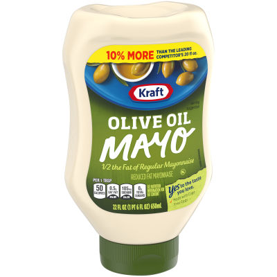 Kraft Reduced Fat Mayonnaise With Olive Oil, 22 fl oz Bottle