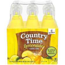Country Time Lemonade Flavored Drink, 6 - 6.75 fl oz Bottles